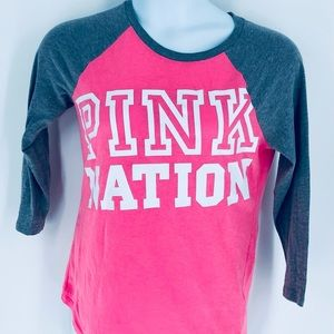 Pink Victoria's Secret Long Sleeve Jersey T Small
